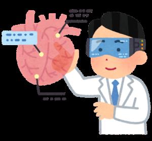 科学者が臓器を解析している